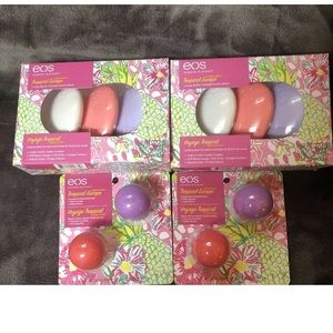 EOS tropical lip balm and lotion lot New Bridal